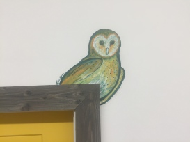 Barn Owl Door Frame Mural