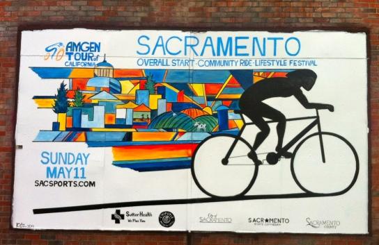 Sacramento Visitor's Bureau Commission, Amgen Mural, 2014