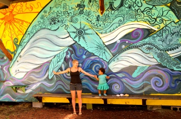 A visit to my Circus Whale Mural, Hawaii, 2015